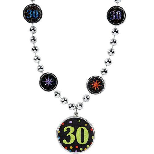 30th Birthday Pendant & Bead Necklace