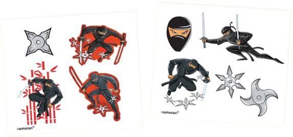 Component Ninja Tattoos, 48-pk