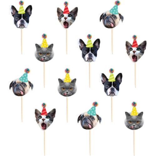 Over the Hill Animal Cupcake Picks, 24-pc