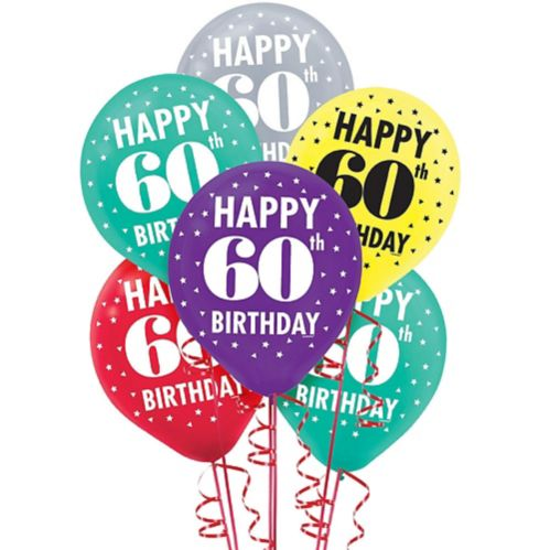 Here's to 60 Birthday Balloons, 15-ct