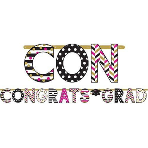 Giant Confetti Graduation Letter Banner