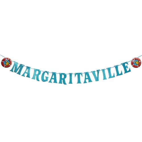 Banderole à lettres Margaritaville, scintillant