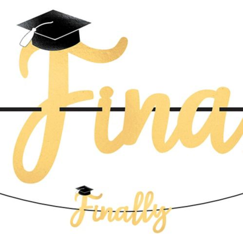Finally Graduation Letter Banner with Mini Banner Product image
