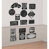Over the Hill Vinyl Cutouts, 16-pc