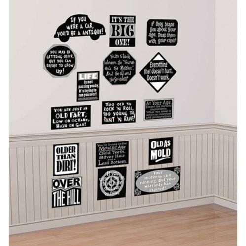 Over the Hill Vinyl Cutouts, 16-pc Product image
