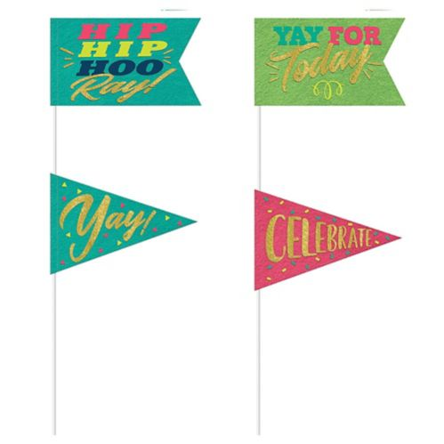 Sign of the Times Pennant Flags, 4-pc