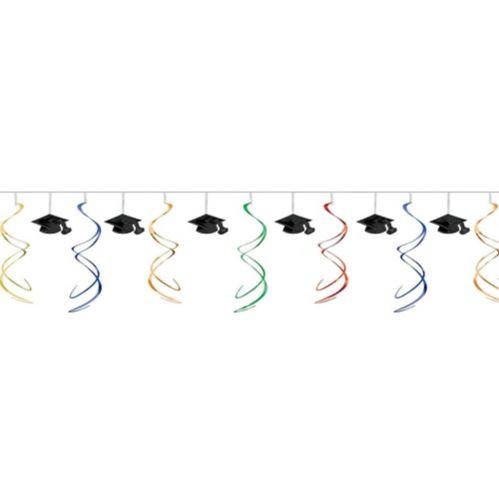 Guirlande remise des diplômes à spirales multicolores