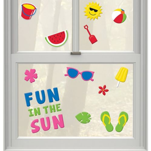 Fun in the Sun Summer Gel Cling Decals, 23-pc