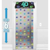 The Party Continues 40th Birthday Doorway Curtain