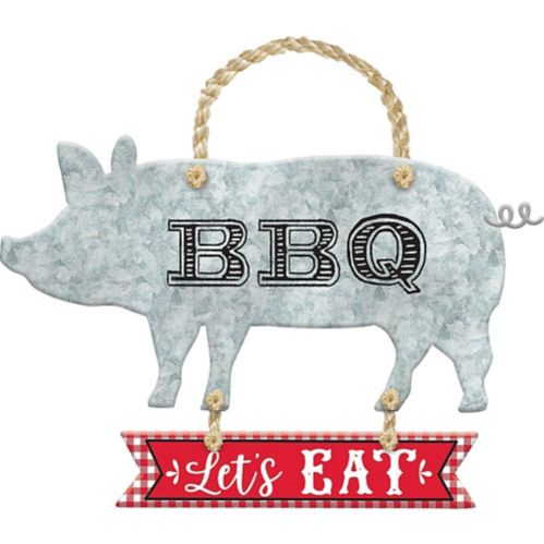 Pig BBQ Stacked Sign