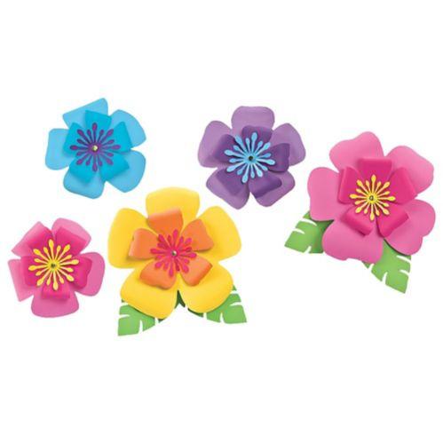 Hibiscus Flower Decorations, 5-pc