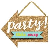 Mini Glitter Gold Sign of the Times Party Sign