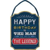 Vintage Happy Birthday Sign