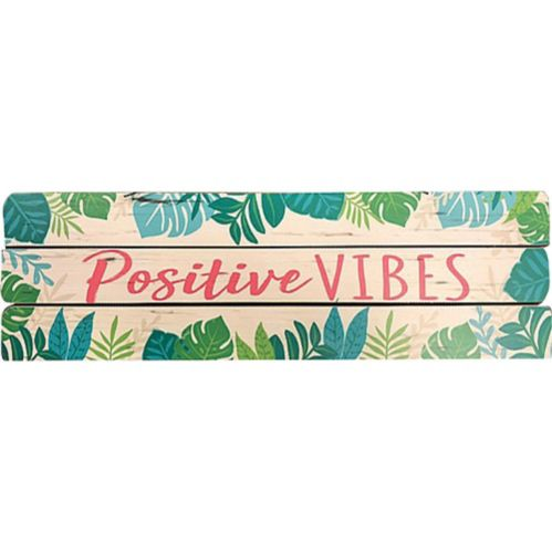Positive Vibes Block Sign