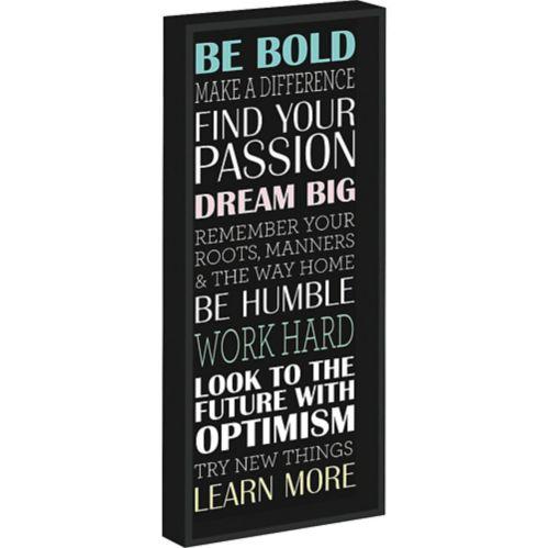 Motivational Phrases Block Sign
