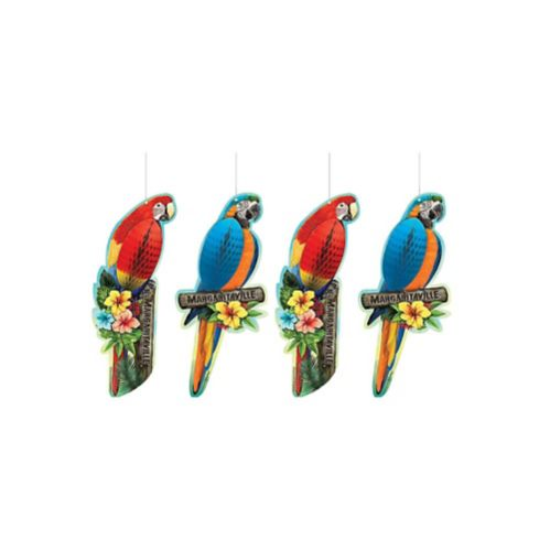 Margaritaville Honeycomb Parrots, 4-pc