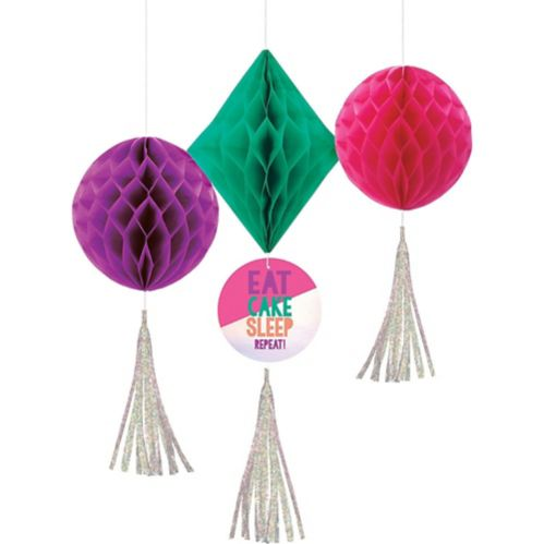 Young  Fab Honeycomb Decorations, 3-pc