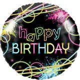 Glow Party Mylar Balloon, 18-in, 10-pk