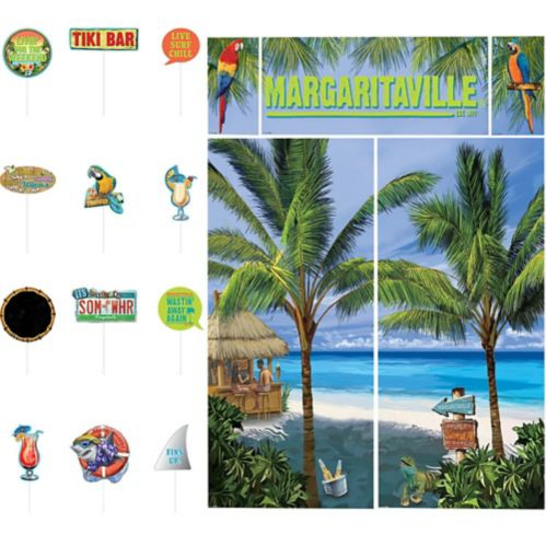 Margaritaville Scene Setter with Photo Booth Props