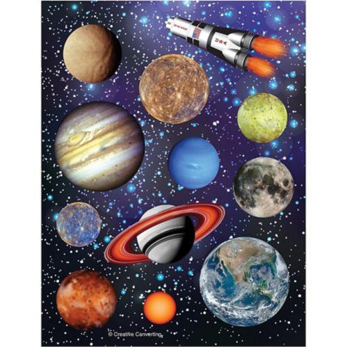 Space Blast Stickers, 4-pk