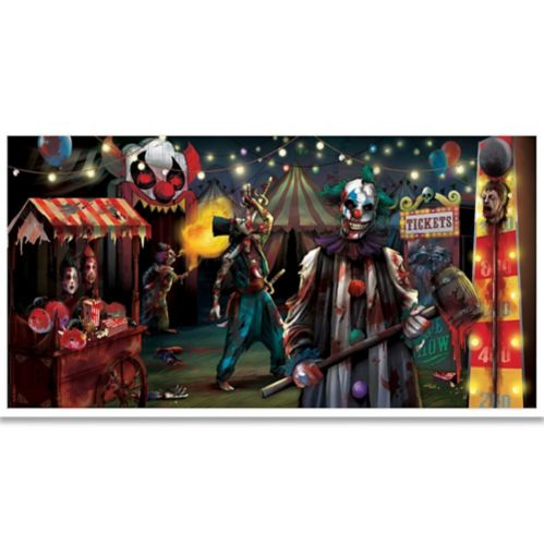 Creepy Carnival Giant Evil Circus Banner