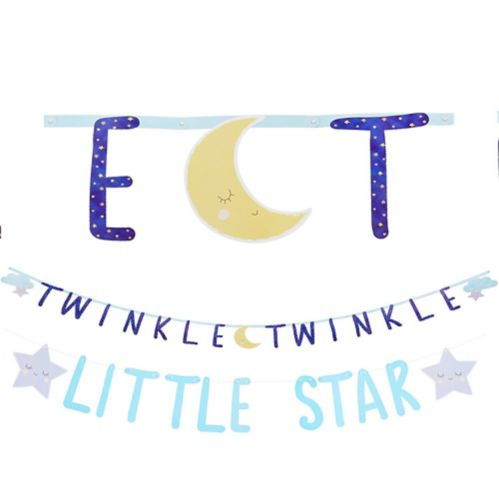 Twinkle Twinkle Little Star Letter Banner with Mini Banner