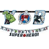 Marvel Powers Unite Personalized Birthday Banner Kit, 2-pc