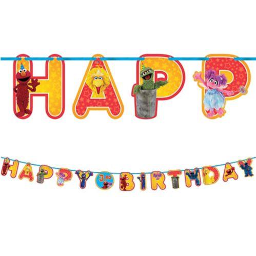 Banderole d'anniversaire Sesame Street