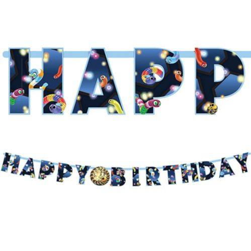 Banderole d'anniversaire Slither.io