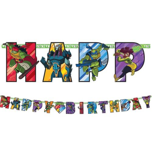 Rise of the Teenage Mutant Ninja Turtles Birthday Banner Kit
