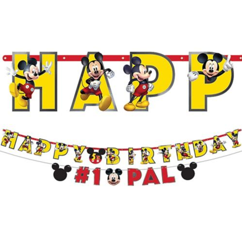 Banderole d'anniversaire à personnaliser Mickey Mouse Forever, paq. 2