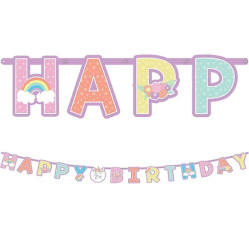 Jumbo Unicorn Party Birthday Banner Kit