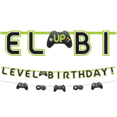 Level Up Birthday Banner with Mini Banner