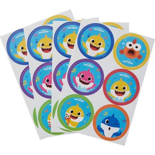 Baby Shark Stickers, 4-pk