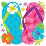 Bright Flip Flop Cutout