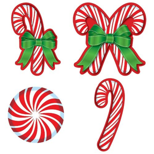 Candy Cane Cutouts, 30-pc