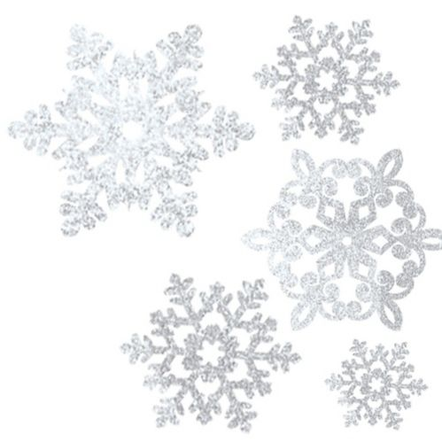 Glitter Snowflake Cutouts, 20-pc