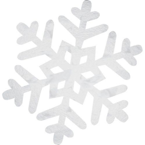 Foil Snowflake Cutout, 10-in