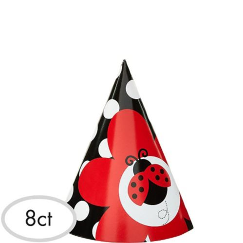 Fancy Ladybug Party Hats, 8-pk