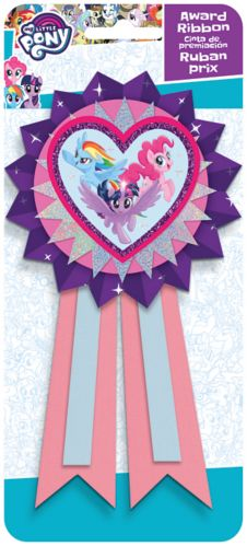 Pink Purple My Little Pony Award Ribbon