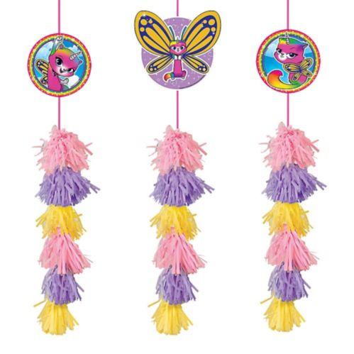 Décorations à pampilles de chaton papillon licorne, arc-en-ciel, paq. 3