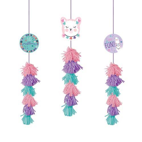 Llama Fun Tassel Decorations, 3-pc