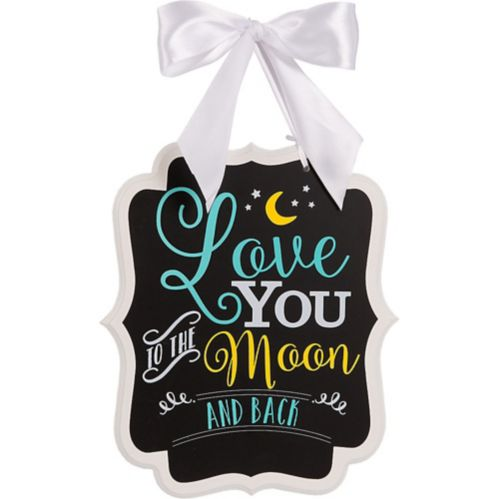Moon Baby Shower Chalkboard Sign
