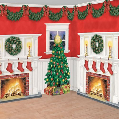 Home for Christmas Room Decorating Kit, 6-pc
