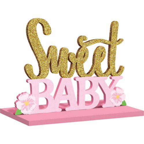 Affiche de table scintillante Sweet Baby
