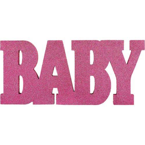 Affiche de table Baby, rose scintillant