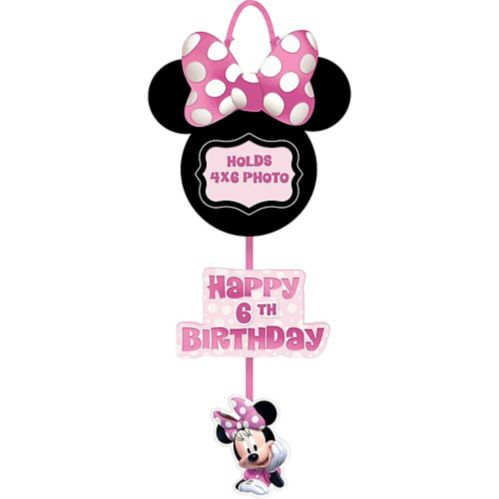 Minnie Mouse Forever Personalized Birthday Photo Sign