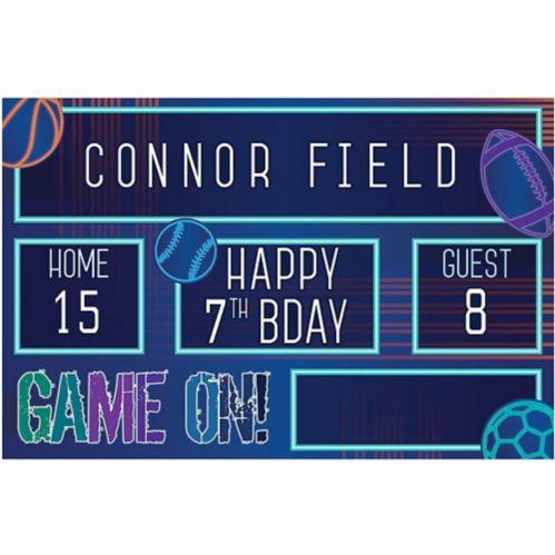 Birthday Baller Personalized Stadium Scoreboard Banner Kit