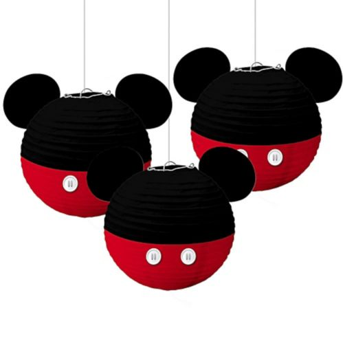 Mickey Mouse Forever Paper Lanterns, 3-pc