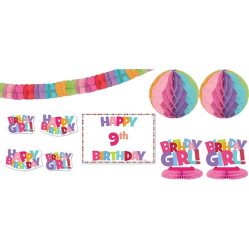 Add an Age Girl Birthday Room Decorating Kit, 12-pc